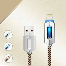 Heavy Duty LED Metal Silk Braided Sync Charge USB Cable iPhone X/8/7/6