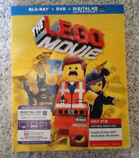 New THE LEGO MOVIE - Blu-Ray DVD Digital HD plus Kids Activity Book