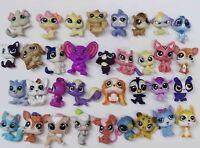 "Random lot of 10 Littlest Pet Shop dog cat deer house Rabbit mini figure 1.5"""