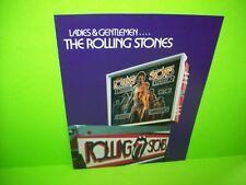 ROLLING STONES Pinball Machine Flyer ORIGINAL 1980 Bally Foldout Color Brochure