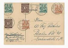 Deutsche Briefmarken der alliierten Besatzung mit Mischfrankatur für Post, Kommunikation