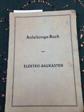 DDR ElektroBaukasten Anleitungs-Buch ca. 1960