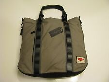 Authentic Mens Women's Rag & Bone Leather Trim Tote Bag Gray + Shoulder Strap