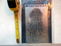 Dreamweaver Metal Stencil Jellyfish LG758 Lynell Harlow Embossing Stenciling