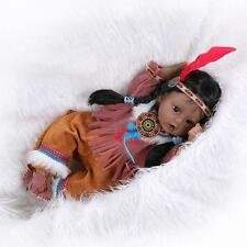 Bebe Reborn Baby Indian Girl Dolls 20'' Soft Silicone Lifelike Newborn Toy Gift