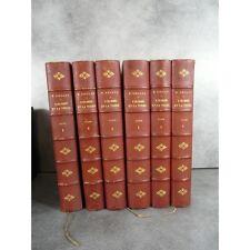 Reclus Elisée L'Homme et la terre 6 beaux volumes bien reliés et illustrés compl