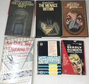 6 x Ursula Curtiss Vintage Crime Fiction Job Lot