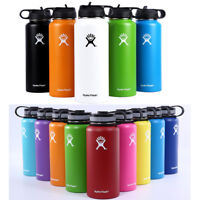 Hydro Flask Water Bottle Stainless Steel304 Insulated Wide Mouth Lid Straw Drink