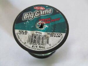 Berkley Trilene Big Game Green Fishing Line Spool - 10 lb test, 1500 yds