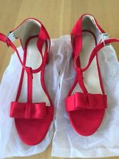 Red sandals with block heel and bow detail size 7