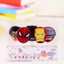 5pcs avengers Cake candles Kids Birthday Party Supplies.