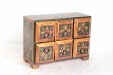 6 Drawer Chest Handpainted New Antique Wooden Halloween Gifts W-14