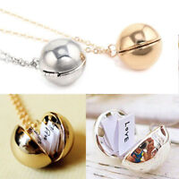 Custom Handmade Secret Message Ball Locket Necklace Friendship Best Friend Gifts