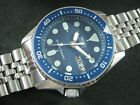"""SEIKO SKX013 """"SMURFS"""" NH36 Water Proof Tested Jr./Medium Size A1 Condition"""