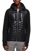 Superdry Storm Hybrid Zip Up Hoodie Mens Hood Jacket Top Black Granite Marl