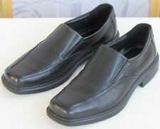 44 | Ecco Men Black Leather Slip On Arch Support Breathable Dress Casual Loafer