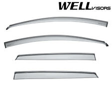 WellVisors Side Window Visors Sun Deflectors For 16-Up Hyundai Accent Hatchback