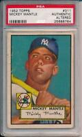 Mickey Mantle 1952 Topps  # 311 PSA Authentic  Great Eye Appeal