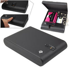 Fingerprint Electronic Car Biometric Portable Gun Safe Security Box Lock