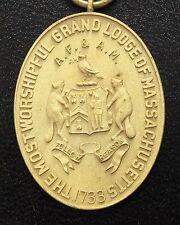 KAPPYSCOINS 1925 MASONIC 50 YEAR VETERAN BADGE MEDAL PIN  GRAND LODGE OF MASS