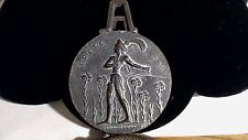 Large Vintage Greece Metal Paper Weight and Clip