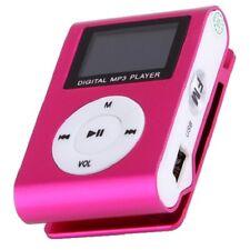 Mini Reproductor MP3 Clip LCD ROSA Aluminio RADIO FM hasta 8GB MIcroSD a411