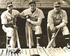 Detroit Tiger Baseball Charlie Gehringer Hank Greenberg Rudy York 1940 Dug Out