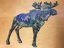 Camouflage Moose  Die Cut Wall Art - New - Support Animal Rescue!