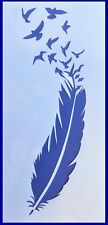 Flexible Stencil *FEATHER* Flying Birds Embossing Card Making 20cm x 9.5cm