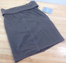 NEW Athleta Mix & Mingle Skirt In Falcon Brown Fold Down Waist XXS NWT MSRP $69