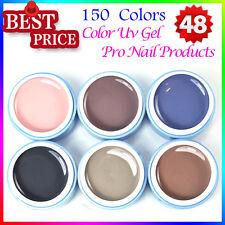 Nail Kits 6PCS Pure Color Gel Nail Polish Extension Builder UV Gel Brand New 5ml