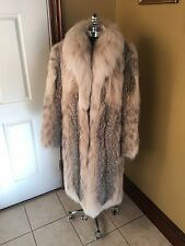 GORGEOUS VINTAGE FULL LENGTH CANADIAN SPOTTED LYNX FUR COAT JACKET STROLLER SM