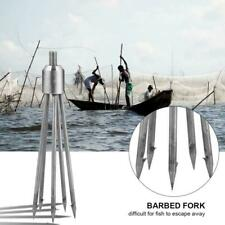Durable Stainless Barbed Stainless Steel Tine Harpoon Fishing Spear Fork Hook !