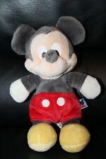 Doudou Mickey Disney Gris Blanc Rose Et Rouge 22cm TBE