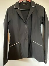 Kerrits Show Coat Black w/ White Trim Size Medium Nwot super lightweight stretch