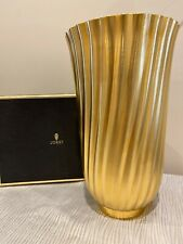 L Objet 24k Gold Plated Hand Forged Brass Carrousel Large vase Rare! Nr