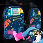 Cartoon Car Seat Back Protector Cover Accessories Mat Kick Holder Storage