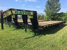 Flatbed Gooseneck 10 ton Deckover Hd Equipment trailer 30ft flat bed 24.9K Gvwr