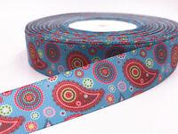 5 Yard 1'' 25mm print patterns bow Ribbon Crafts Sewing  Grosgrain Ribbon