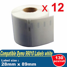 12x Rolls Dymo/Seiko 99010 Label 28mm x 89mm for Labelwriter 400/450 Turbo 4XL