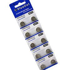 10 pcs LR1154 AG13 LR44 SR44 357A 303 357 A76 Alkaline Coin Cell Button Battery