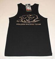 Holden Racing Team HRT Boys Black Printed Sleeveless Singlet Top Size 10 New