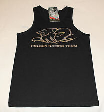 Holden Racing Team HRT Boys Black Printed Sleeveless Singlet Top Size 8 New
