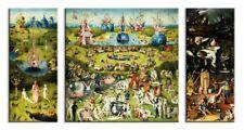 Hieronymus Bosch - Garten Der Lüste Poster Leinwand-Druck Bild (130x70cm) #59091