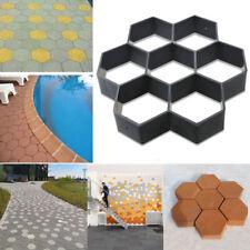 Driveway Paving Pavement hexagon Mold Patio Concrete Stepping Path Walk Maker BM