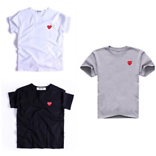 CDG Play Tee Comme Des Garcons T shirt Top Short Sleeve Unisex - Embroidery Logo