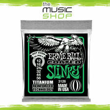 New Ernie Ball 3126 Coated Not Even Slinky Heavy Titanium Guitar Strings 12-56