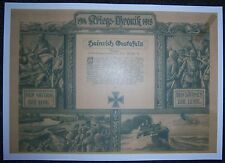 GERMAN - Kriegs Chronik/Decorative War Record. Flyer, Bombing Raids over England