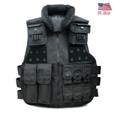 Tactical Vest Military Airsoft Hunting Combat Protect Training Gear Vest Black