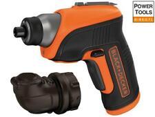 Black and Decker CS3652LC Cordless Screwdriver & Right Angle Attachment 3.6V ...
